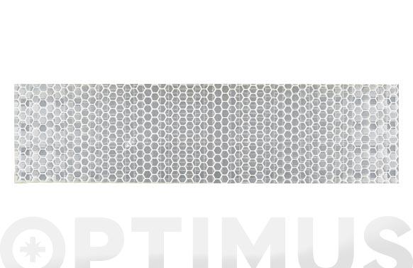 Cinta adhesiva señalizacion reflectante 33 m x 50 mm blanca