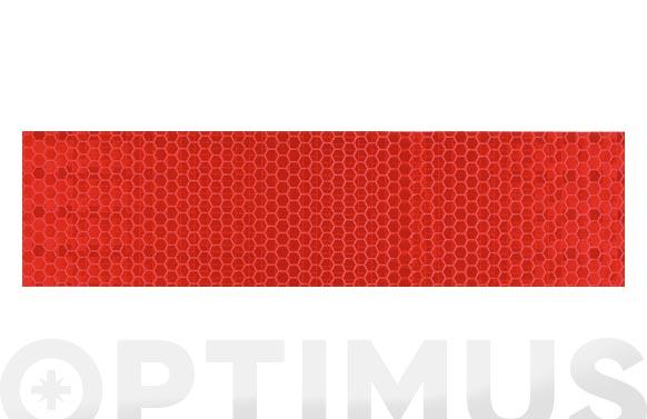 Cinta adhesiva señalizacion reflectante 33 m x 50 mm roja