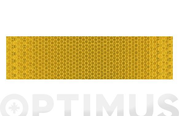 Cinta adhesiva señalizacion reflectante 33 m x 50 mm amarilla