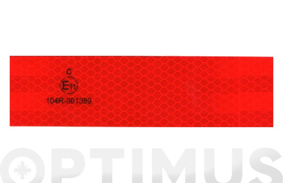 Cinta adhesiva reflectante automocion homologada 25 m x 50 mm roja
