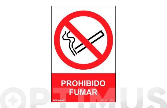 Señal pvc prohibido fumar 300 x 210 mm