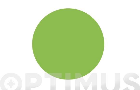 Señal vinilo adhesivo avisador puerta cristal ø 100 mm verde
