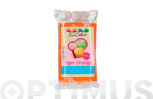 Fondant color 250 gr naranja tiger