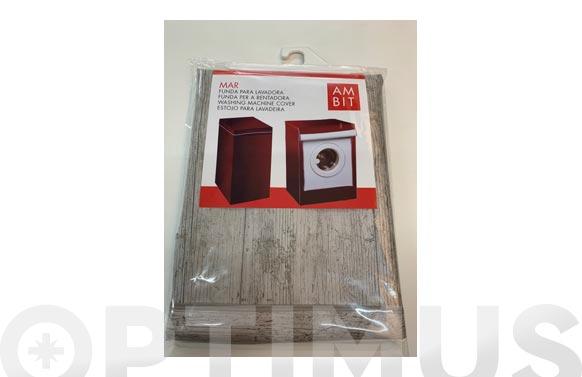 Funda lavadora carga frontal madera blanca 42 x 58 x 82 cm