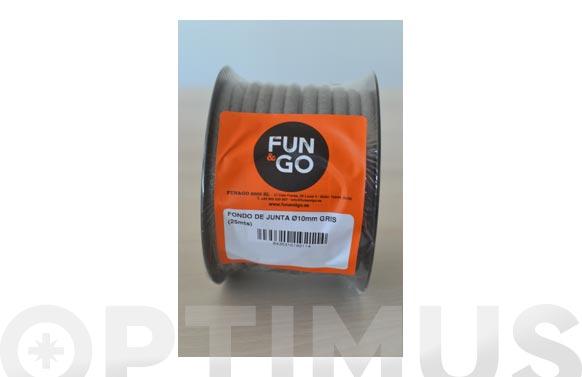 Cordon fondo de junta (rollo 25 m) ø 10 mm gris