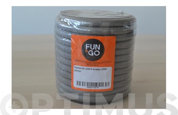Cordon fondo de junta (rollo 25 m) ø 15 mm gris