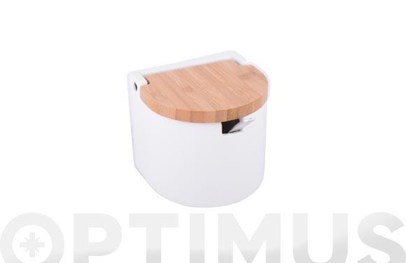 Azucarero/salero maldon cerámica bambú mini blanco