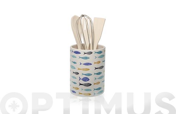 Portautensilios porcelana 10,5 x 14 cm