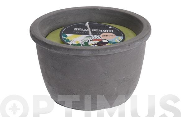 Vela citronela terracota cemento gris ø 165 x 95 mm