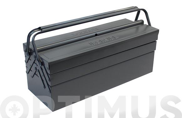 Caja herramientas metal gris 560 x 220 x 220 mm 5 compartimentos