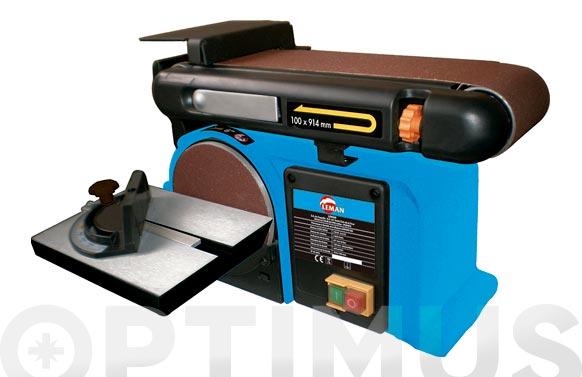 Lijadora estacionaria disco/banda 375w ø 150 mm / 914x100 mm