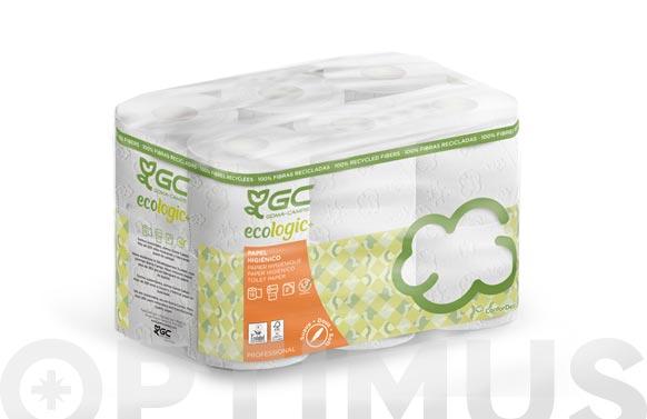 Papel higienico domestico reciclado 2 capas 22,4 m