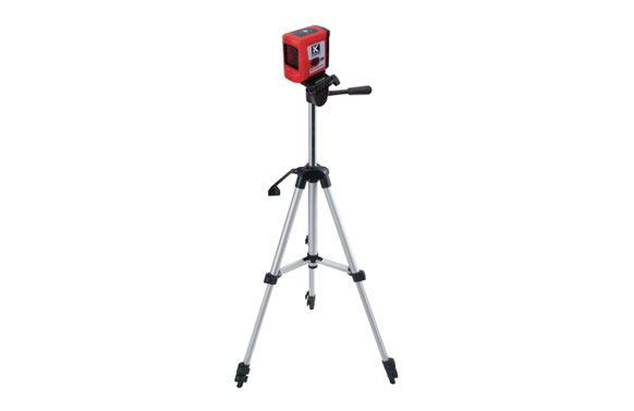 Nivel laser autonivelante con tripode de 1,3 m proyecta 2 lineas rojas, alcance 20 m
