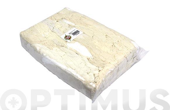 Trapo limpieza punto algodon blanco/crudo 5 kg
