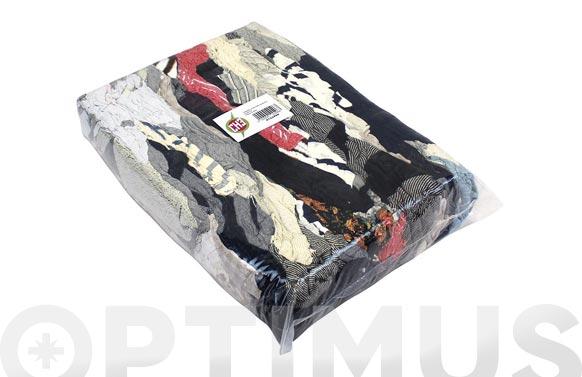 Trapo limpieza punto algodon color 5 kg
