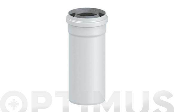 Tubo coaxial de evaporacion calderas estancas ø60/100 1m m-h