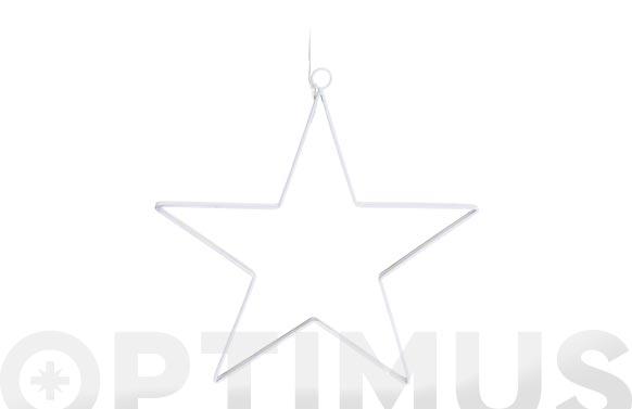 Estrella leds a pilas 27 x 28 cm blanca
