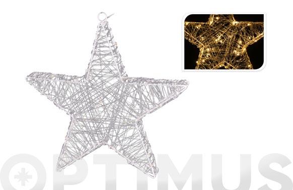 Estrella acrilica con leds 30 cm blanca