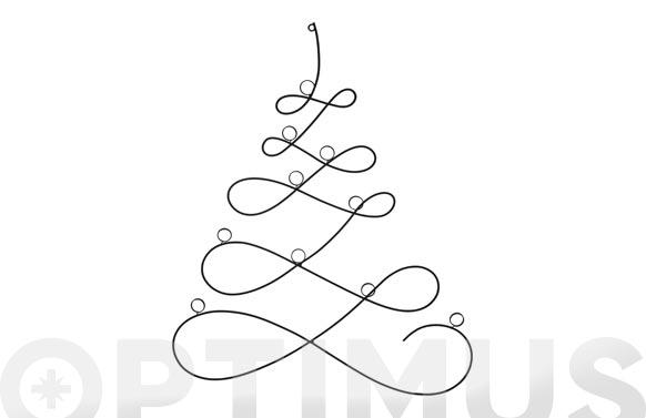 Arbol navidad metalico para colgar 67 cm negro