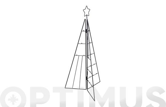 Arbol navidad metalico fotos / postales 3d 70 cm negro