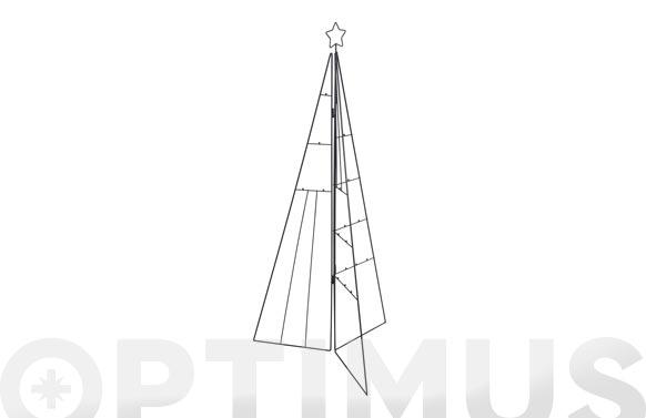 Arbol navidad metalico fotos / postales 3d 115 cm negro