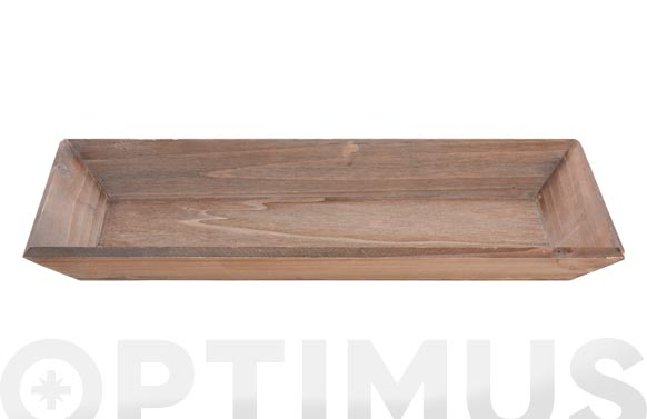 Bandeja madera natural 40 x 20 cm