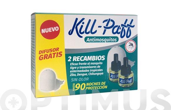 Recambio antimosquitos 2 uds + difusor