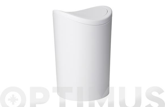 Cubo baño basculante blanco 6 l
