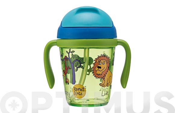 Vaso infantil tritran con asas jungla 300 ml