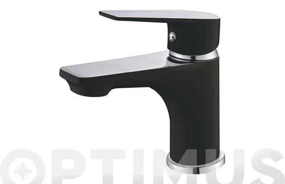 Monomando serie black lavabo
