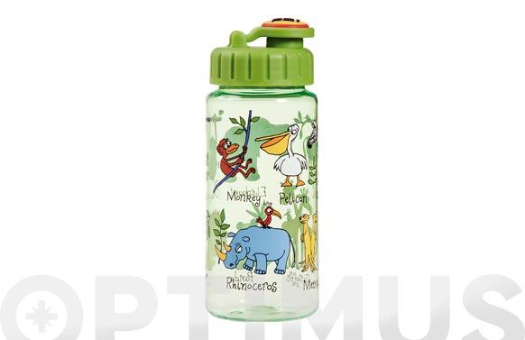 Botella infantil con pajita jungla 400 ml