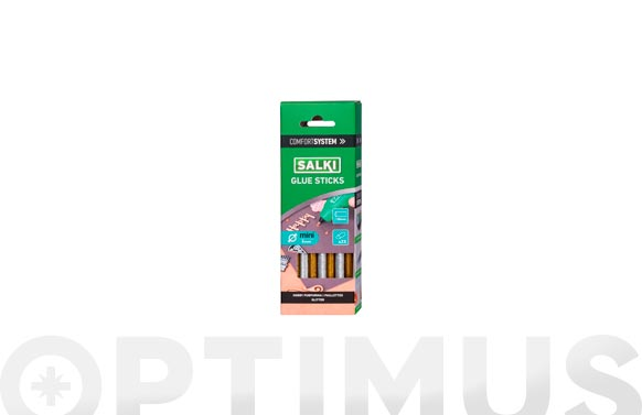 Adhesivo termofusible barra 23 uds ø 8 mm x 130 mm purpurina