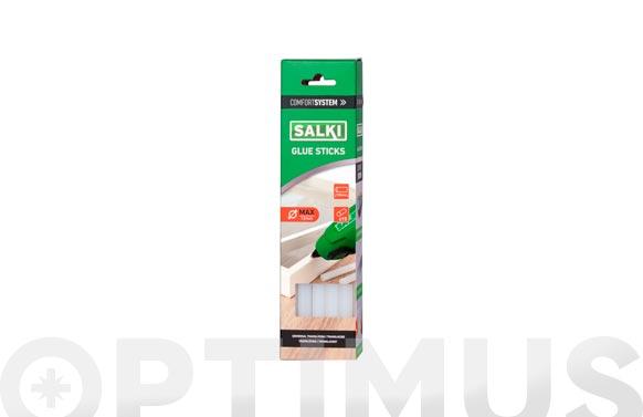 Adhesivo termofusible barra 15 uds ø 12 mm x 190 mm translucida