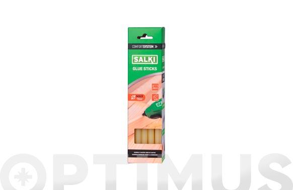 Adhesivo termofusible barra 15 uds ø 12 mm x 190 mm madera y carton