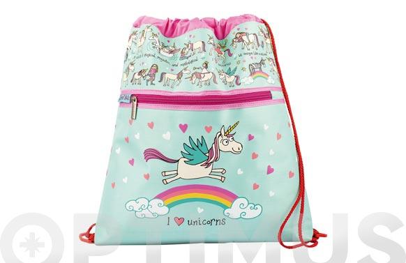 Mochila cuerdas infantil unicornios