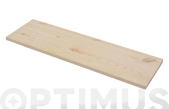 Estante rectangular 4xsxs2 pino 60 x 20 x 1,80 cm