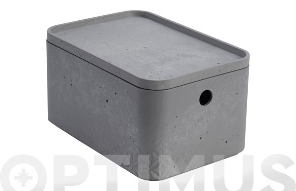 Caja beton rectangular s 4l gris cemento