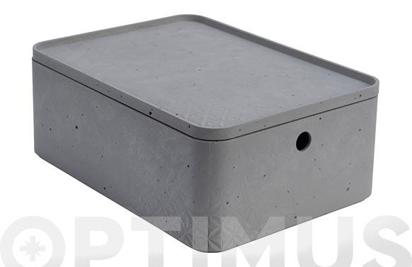 Caja beton rectangular m 8l gris cemento