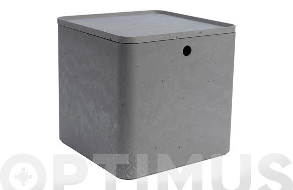 Caja beton cube xl 18l gris cemento