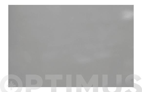 Lamina adhesiva decorativa mini rollo gris brillo 45 cm x 2 m