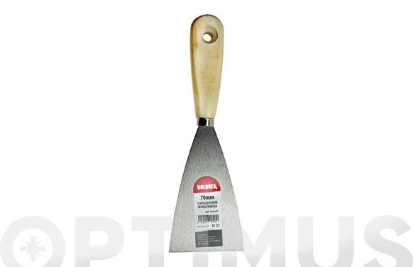 Espatula pintor acero mango madera 70 mm