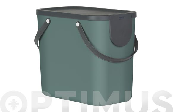 Cubo reciclaje apilable albula verde 25 l