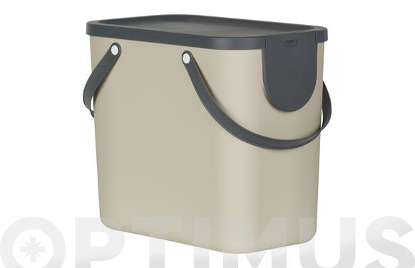 Cubo reciclaje apilable albula beige 25 l