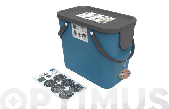 Cubo reciclaje apilable albula azul petroleo 25 l