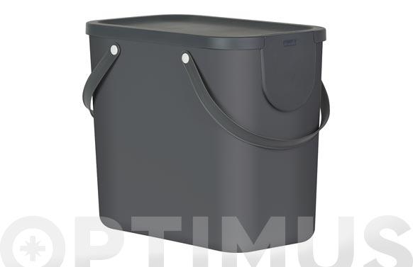 Cubo reciclaje apilable albula gris antracita 25 l