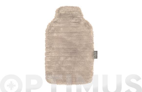 Bolsa agua caliente 2 lt polar pelo marfil