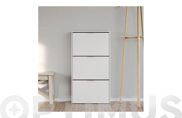 Zapatero 3 puertas blanco 113 x 60 x 22 cm