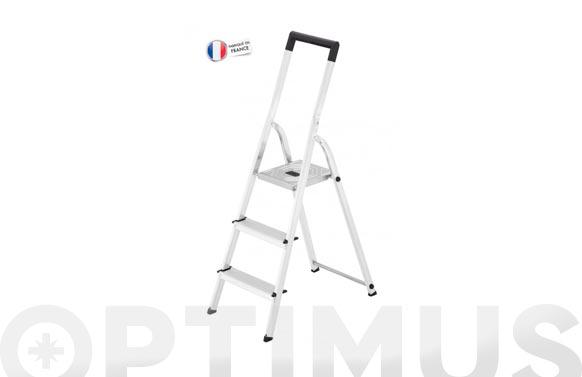 Escalera aluminio domestica l40 easyclix 3 peldaños