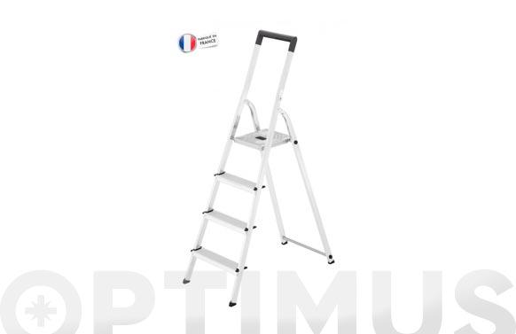 Escalera aluminio domestica l40 easyclix 4 peldaños