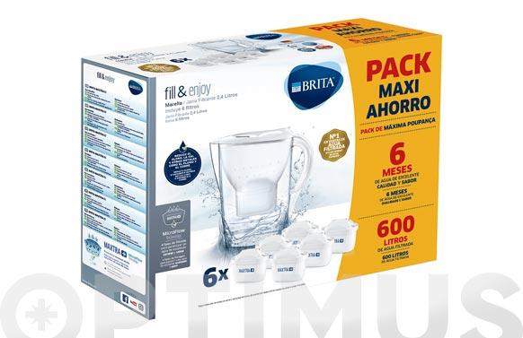 Filtro maxtra pack 6u + jarra marella blanca pack renove